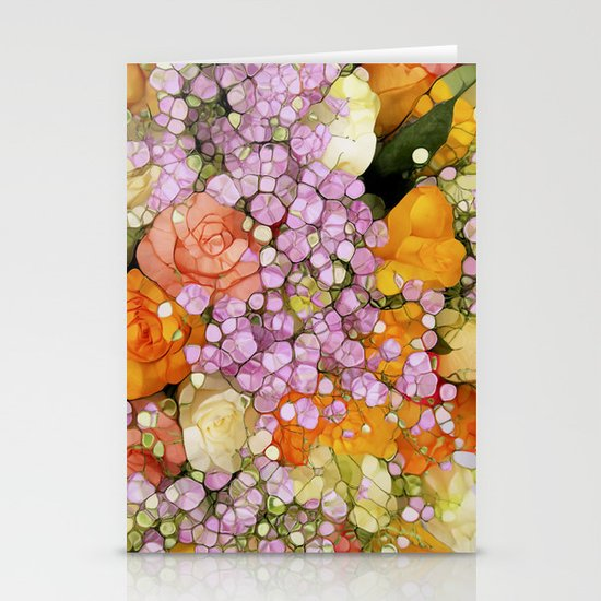 Mosaic Vintage-  Floral Spring Sparkles Stationery Cards