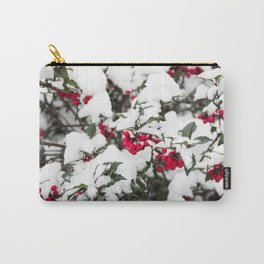 SNOW COVERED HOLLY Carry-All Pouch