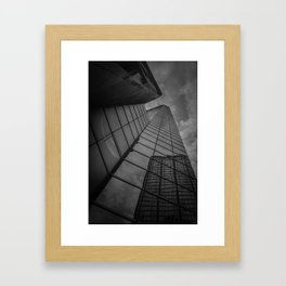 looking up; feeling grey... Framed Art Print