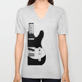 Electric Guitar Drawing Unisex V-Neck