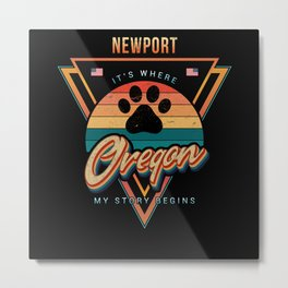 Newport Oregon Metal Print