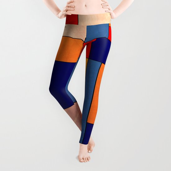 Abstract #340 Leggings