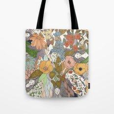 Falling Asleep in the Flowers Fine Art Print Tote Bag