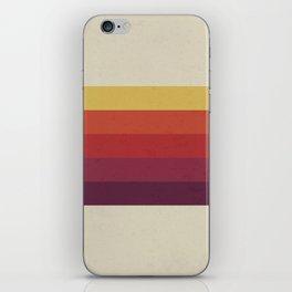 Retro Video Cassette Color Palette iPhone Skin