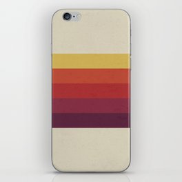Retro Video Cassette Color Palette iPhone Skin