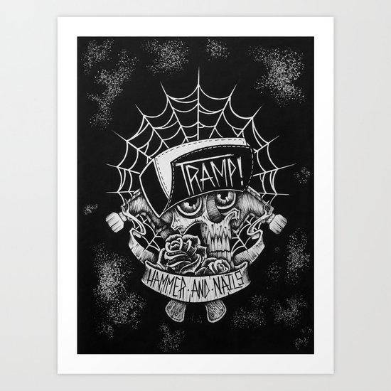 Hammer N Nails Art Print