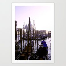 Venezia Gondolas Art Print