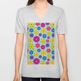 Flowers_101 Unisex V-Neck
