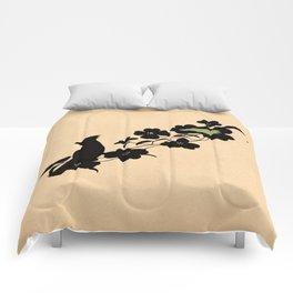 North Carolina - State Papercut Print Comforters