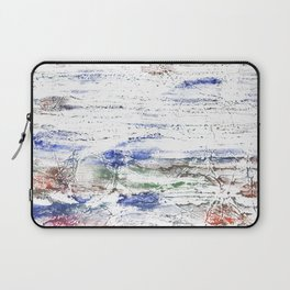 Multicolored clouded wash drawing painting Laptop Sleeve