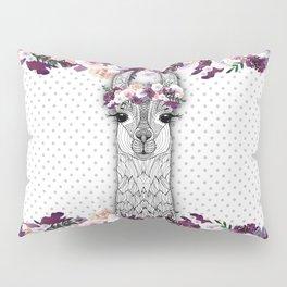 FLOWER GIRL ALPACA Pillow Sham
