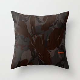 Modern Woodgrain Camouflage / British DPM Throw Pillow