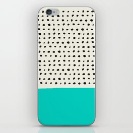 Aqua x Dots iPhone Skin