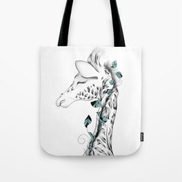 Poetic Giraffe Tote Bag
