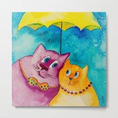 Two under the umbrella Metal Print