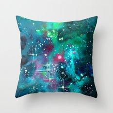 Emerald Nebula Throw Pillow