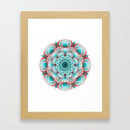 Turquoise Mandala Framed Art Print