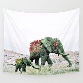 Blossom Elephants Wall Tapestry