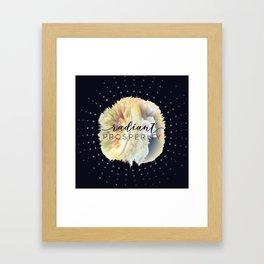 Radiant Prosperity Framed Art Print