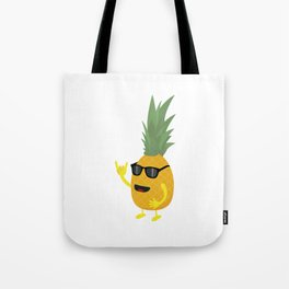 Heavy Metal Pineapple Tote Bag