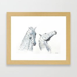The Kelpies at Falkirk in Scotland Framed Art Print