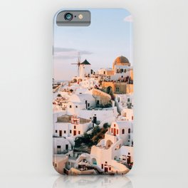Dreaming at Dusk | Santorini, Greece iPhone Case