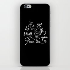 The Truth Shall Set You Free iPhone & iPod Skin