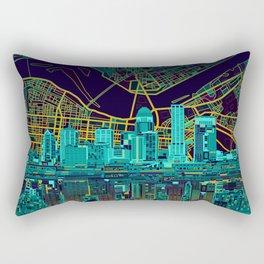 louisville skyline abstract Rectangular Pillow