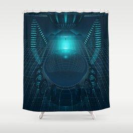 DIGITAL SPACE EGFXF26 Shower Curtain