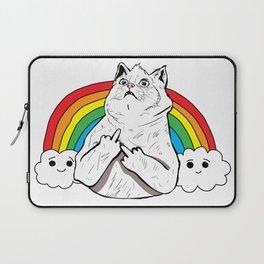 Fluff Off Rainbow Cat Laptop Sleeve