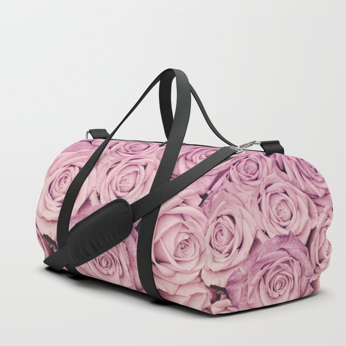 Some People Grumble - Pink Rose Pattern - Roses Duffle Bag