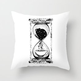 Morning coffee hourglass Throw Pillow