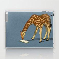 Reading Giraffe Laptop & iPad Skin