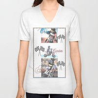 moto V-neck T-shirts featuring Moto Kids by Connie Campbell