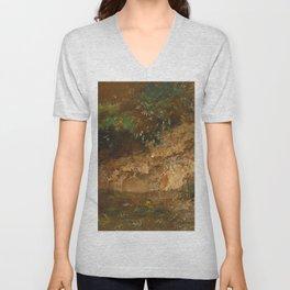 "John Constable ""Undergrowth"" Unisex V-Neck"