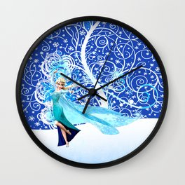 The Magic Of Frozen Wall Clock