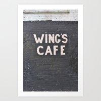 wings cafe Art Print