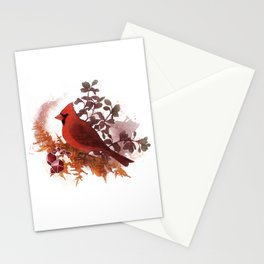 Cardinal Bird and Copper Stationery Cards