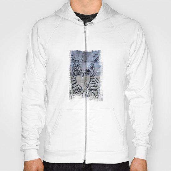 gray owl 02 Hoody