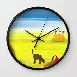 Treasure Hunt on the Beach Wall Clock