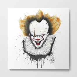 The Horror of Pennywise Metal Print