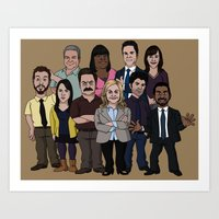 parks and recreation Art Prints featuring Parks and Recreation by jasesa