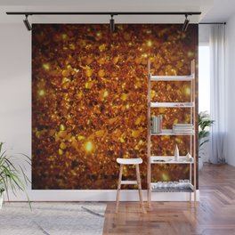 Copper Sparkle Wall Mural