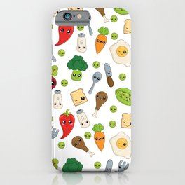 Cute Kawaii Food Pattern iPhone Case