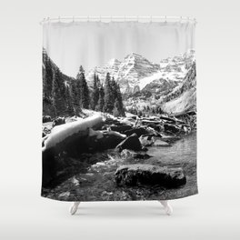Maroon Bells Mountains Colorado Shower Curtain