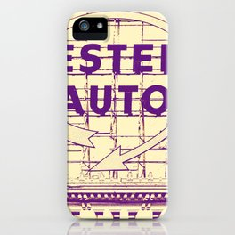 Western Auto Neon Sign In Downtown Kansas City iPhone Case