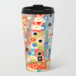 Girl with the flower in hair Metal Travel Mug