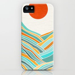 Abstract Sunset Landscape II iPhone Case