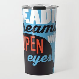 Open Eyes - Iowa City Public Library Travel Mug