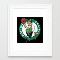 nba Framed Art Prints featuring NBA - Celtics by Katieb1013